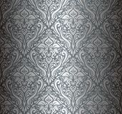 Silver luxury vintage wallpaper background vector illustration
