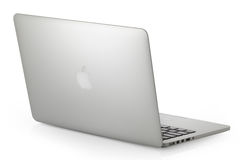 Silver MacBook Pro Royalty Free Stock Images