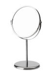 Silver makeup mirror with clipping path Stock Photos