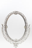 Silver makeup mirror isolate Royalty Free Stock Photography