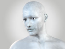 Silver man Stock Image