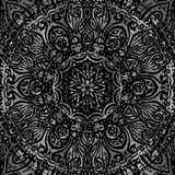 Silver mandala Royalty Free Stock Image