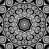 Silver mandala Stock Image