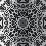 Silver mandala Royalty Free Stock Photography