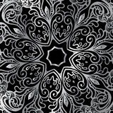 Silver mandala Royalty Free Stock Images