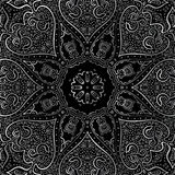 Silver mandala Royalty Free Stock Photos