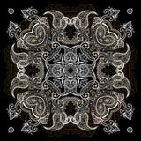 Silver mandala Royalty Free Stock Photo