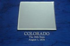 Silver Map of Colorado Stock Image