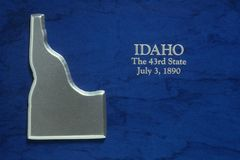 Silver Map of Idaho Stock Photos