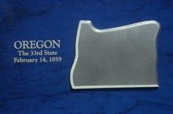 Silver Map of Oregon royalty free stock photos