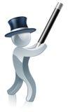 Silver mascot magician Royalty Free Stock Photography
