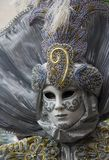 Silver mask. Silver carnival mask in venice Royalty Free Stock Photos