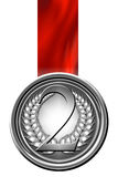 Silver medal Royalty Free Stock Images