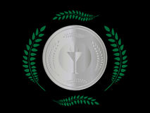 Silver Medal 1 Royalty Free Stock Images