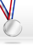 Silver Medal Illustration. Stock Image