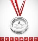 Silver medal Stock Photos