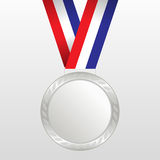 Silver medal winners on the tape. Royalty Free Stock Images