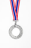 Silver medal with your own logo or text Royalty Free Stock Image