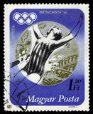 Silver medalist Andrea Gyarmati, hungarian swimmer, Summer Olympics 1972, Munich Royalty Free Stock Photography