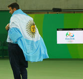 Silver medalist Juan Martin Del Potro of Argentina during tennis men`s singles medal ceremony of the Rio 2016 Olympic Games Stock Images