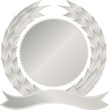 Silver medallion Stock Photo