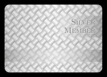 Silver member card with diagonal crossing bar temp Stock Photo