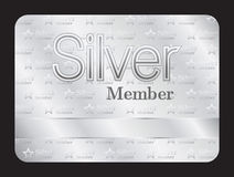 Silver member club card with small stars pattern Stock Image