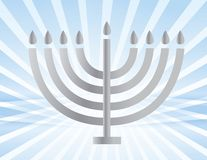 Silver Menorah illustration design Stock Photos