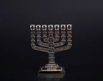 Silver menorah Royalty Free Stock Photo