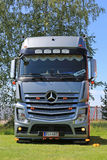 Silver Mercedes-Benz Actros Truck Royalty Free Stock Photo