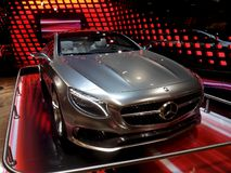 Silver Mercedes in Salone royalty free stock photos