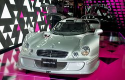 Silver Merecedes AMG CLK - LM Stock Photography