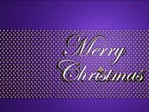 Silver merry christmas text Stock Photos