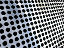 Silver Mesh / grid with circular holes Stock Image