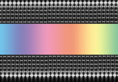 Silver Mesh with Pastel Rainbow Spectrum Royalty Free Stock Photos
