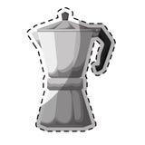 Silver metail moka pot icon Stock Photos