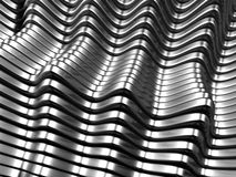 Silver metal abstract background. 3d illustration Stock Photography