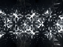 Silver metal abstract tile pattern background. 3d Illustration Royalty Free Stock Photo