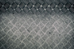 Silver Metal anti slip metal floor pattern texture. Stock Images