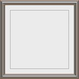 Silver Metal award frame Royalty Free Stock Images