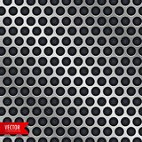 Silver metal background with circle holes Royalty Free Stock Image