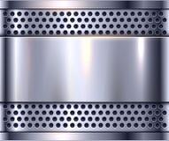 Silver metal background. Shiny metallic chrome plate royalty free illustration