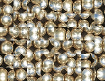 Silver metal balls abstract background. Digitally generated image Royalty Free Stock Photography