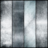 Silver metal banners Royalty Free Stock Photos
