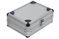 Silver metal case Royalty Free Stock Images