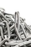 Silver metal chain on a background Royalty Free Stock Photo
