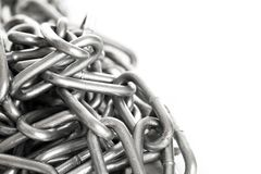 Silver metal chain on a background Royalty Free Stock Image