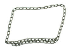 Silver metal chain border Stock Images
