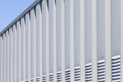 Silver metal fence pattern Royalty Free Stock Photos