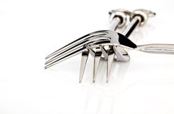 Silver metal forks Stock Photography